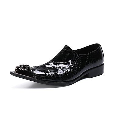 Ανδρικά Νεωτεριστικά παπούτσια Λουστρίν Ανοιξη καλοκαίρι / Φθινόπωρο & Χειμώνας Βρετανικό Μοκασίνια & Ευκολόφορετα Μαύρο / Γάμου / Πάρτι & Βραδινή Έξοδος