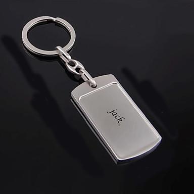 Personalizado Personalizado Chaveiro Clássico Presente Diário 1pcs Prata
