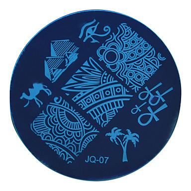 1 pcs Stamper & Scraper Πρότυπο Σειρά Τοτέμ Ασφάλεια / Αφαιρούμενο / Δημιουργικό τέχνη νυχιών Μανικιούρ Πεντικιούρ Στυλάτο / Βασικό Ειδική Περίσταση / Καθημερινά