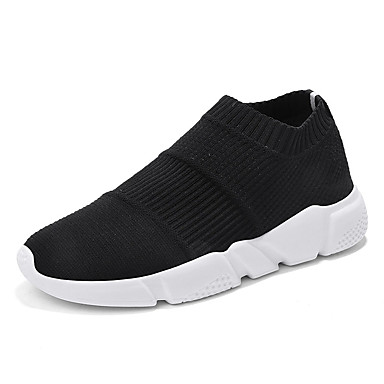 Ανδρικά Παπούτσια άνεσης Ελαστικό ύφασμα / Φουσκωτό πηνίο Καλοκαίρι Καθημερινό Μοκασίνια & Ευκολόφορετα Μη ολίσθηση Συνδυασμός Χρωμάτων Μαύρο / Μαύρο / Άσπρο / Μαύρο / Κόκκινο / Αθλητικό