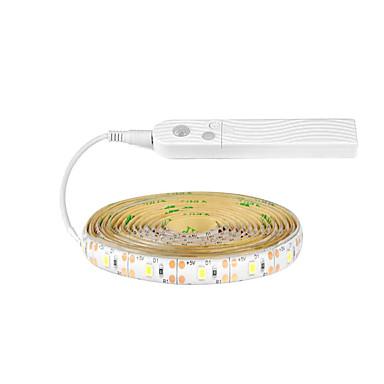 2m Ευέλικτες LED Φωτολωρίδες / Έξυπνα φώτα 30 LEDs SMD2835 1 x αισθητήρα PIR Θερμό Λευκό / Ψυχρό Λευκό Δημιουργικό / Διακοσμητικό / Αυτοκόλλητο Μπαταρίες Powered 1pc
