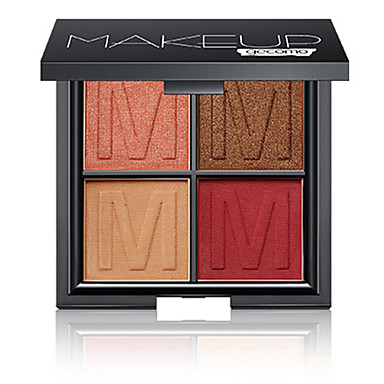 4 cores Sombra Mate Sombra de olho Pró Fácil Uso Profissional Maquiagem para o Dia A Dia Cosmético Dom