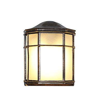 Nytt Design Moderne Moderne Innendørs / Utendørs Aluminum Vegglampe 110-120V / 220-240V 60 W