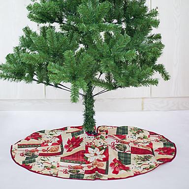 Yiwu pho_06pl tegneserie juletre skjørt trykt tre skjørt julepynt Julenisse hodet diameter 60cm
