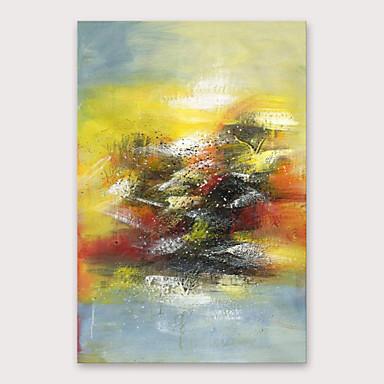 Hang malte oljemaleri Håndmalte - Abstrakt Moderne Inkluder indre ramme