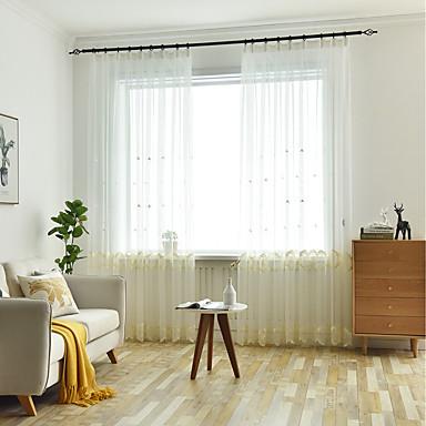 [$31.31] Dos paneles para niños sala de estar dormitorio comedor cortina  bordada