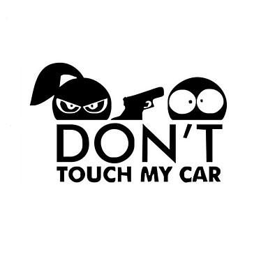 bil styling morsom bil klistremerke for advarsel ikke berøre bilen min