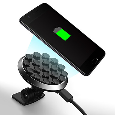 levne Auto Elektronika-360 stupňový otočný přísavný držák bezdrátové nabíječky mobilního telefonu