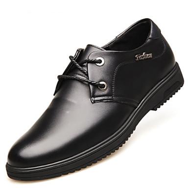 Ανδρικά Τα επίσημα παπούτσια Δέρμα Ανοιξη καλοκαίρι Oxfords Μαύρο / Καφέ