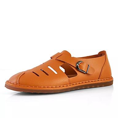 Ανδρικά Παπούτσια άνεσης PU Καλοκαίρι Καθημερινό Σανδάλια Μη ολίσθηση Μαύρο / Καφέ / Μπλε
