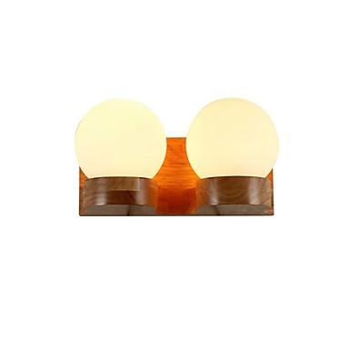 Nytt Design Enkel / Moderne Moderne Stue / Innendørs Tre / Bambus Vegglampe 110-120V / 220-240V 60 W