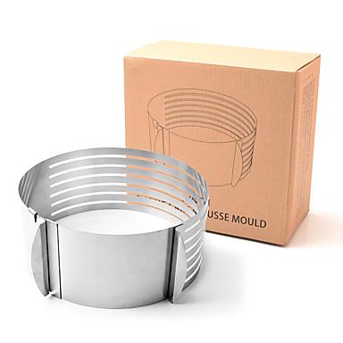 1pç Aço Inoxidável Multifunções Faça Você Mesmo Pão para bolo Redonda bolo de cortador Pie Tools Ferramentas bakeware