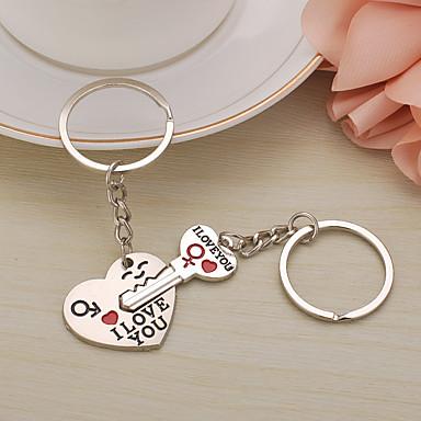 voordelige Dames Sieraden-Sleutelhanger Hart Modieuze ringen Sieraden Zilver Voor Lahja mielitietty