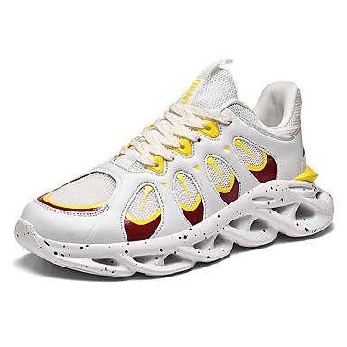 Ανδρικά Υπαίθρια πάνινα παπούτσια Ελαστικό ύφασμα Άνοιξη / Φθινόπωρο Αθλητικό / Καθημερινό Αθλητικά Παπούτσια Τρέξιμο Αναπνέει Μαύρο / Πορτοκαλί / Κόκκινο