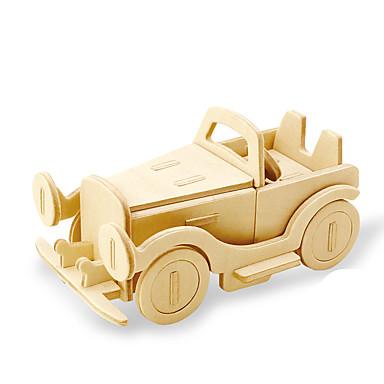 levne 3D puzzle-Robotime 3D puzzle Puzzle Dřevěný model Auto Lev Udělej si sám Dřevěný Přírodní dřevo Dětské Unisex Hračky Dárek