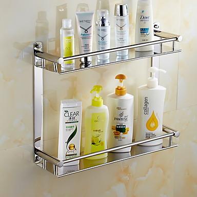 Prateleira de Banheiro Criativo Aço Inoxidável 1pç - Banheiro Montagem de Parede