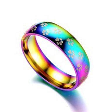 Ανδρικά Γυναικεία Band Ring Δαχτυλίδι Δαχτυλίδι ουράς 1pc Ουράνιο Τόξο Ανοξείδωτο Ατσάλι Τιτάνιο Ατσάλι Κυκλικό Βασικό Μοντέρνα Δώρο Καθημερινά Κοσμήματα Απίθανο