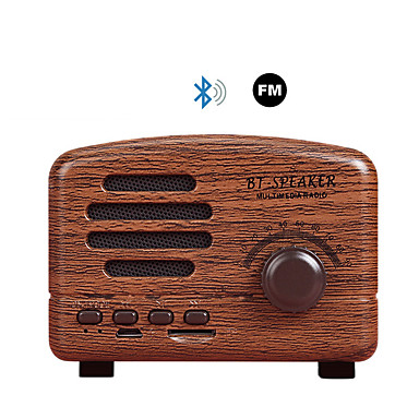 bt01 trådløs bluetooth høyttaler 5w tf med FM radio retro mini bærbar høyttaler for stereo stereo bas nostalgisk