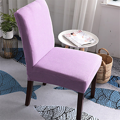 cheap Slipcovers-Solid Thicken Plush Chair Cover Stretch Removable Washable Dining Room Chair Protector Slipcovers Home Decor Dining Room Seat Cover