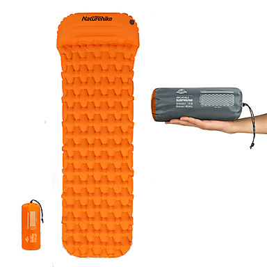 cheap Sleeping Bags & Camp Bedding-Naturehike Inflatable Sleeping Pad with Pillow Camping Pad Air Pad Outdoor Camping Portable Moistureproof Ultra Light Easy to Inflate & Deflate Envelope Rectangular 185*54*3 cm TPU Nylon Hiking
