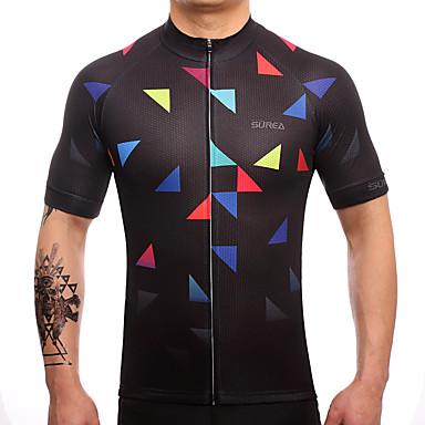 Fastcute Ανδρικά Κοντομάνικο Φανέλα ποδηλασίας Πολυεστέρας Ταφτάς Μαύρο Ποδήλατο Αθλητική μπλούζα Μπολύζες Ποδηλασία Βουνού Ποδηλασία Δρόμου Αναπνέει Ύγρανση Γρήγορο Στέγνωμα Αθλητισμός Ρούχα
