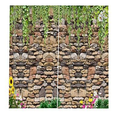 3D-trykk Personvern To paneler Gardin Stue   Curtains