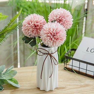 Flores artificiais 3 Ramo Clássico Modern Flores eternas Flor de Mesa