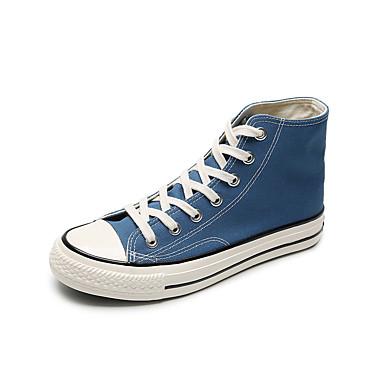 Homens Sapatos Confortáveis Lona Primavera / Outono Esportivo / Casual Tênis Caminhada Preto / Verde / Branco / Ao ar livre