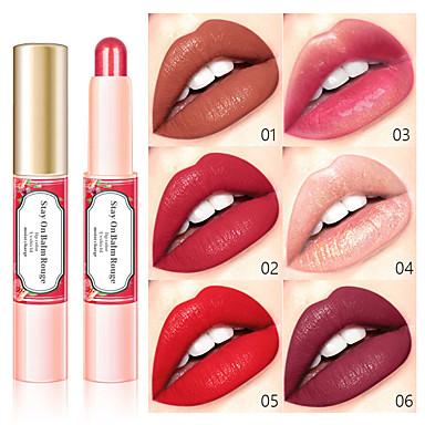 Beijo beleza 6 cor gilt batom duração hidratante perolado fosco lip gloss à prova d 'água não-marcação lábio maquiagem