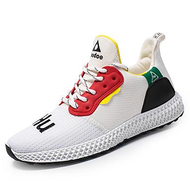 Ανδρικά Παπούτσια άνεσης Ελαστικό ύφασμα Φθινόπωρο & Χειμώνας Αθλητικό Αθλητικά Παπούτσια Αναπνέει Μαύρο / Λευκό / Κίτρινο