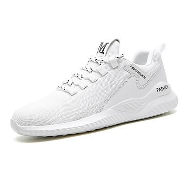 Ανδρικά Παπούτσια άνεσης Δίχτυ Καλοκαίρι Καθημερινό Αθλητικά Παπούτσια Περπάτημα Αναπνέει Μαύρο / Λευκό / Μπεζ / Αθλητικό / Φορέστε την απόδειξη