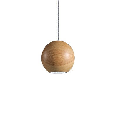 124 94 Single Pendant Light Nordic Simple Lights Wooden Hanging Lighting Painted Finishes Spherical Suspension
