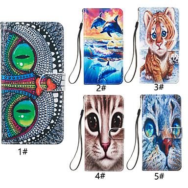 povoljno iPhone maske-kutija za jabuka iphone xr / iphone xs max uzorak / magnetski / sa stalkom puna tijela slučajevi životinja / mačka teško pu koža za iphone 6 6 plus 6s 6s plus 7 8 7 plus 8 plus x xs