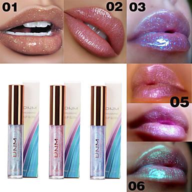 cheap Makeup For Lips-Brand DNM Shiny Moisturizing Lip Gloss Sparkling Crystal Mermaid Pigment Polarized Liquid Lip Balm Makeup