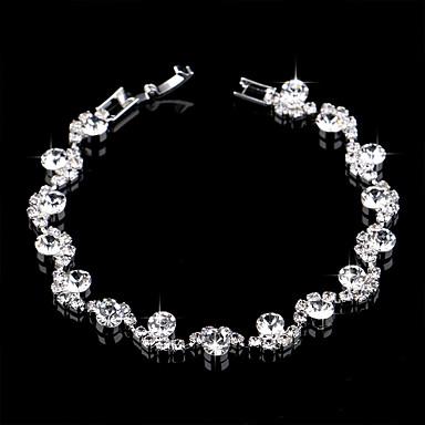 povoljno Modne narukvice-Žene Tenis Narukvice Narukvica Teniski lanac Cvijet Jednostavan Europska Moda Elegantno Imitacija dijamanta Narukvica Nakit Pink Za Vjenčanje Party Angažman Dar Dnevno