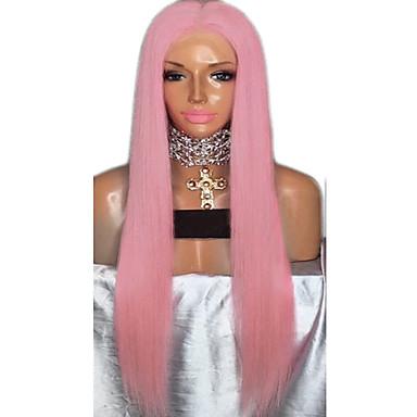 Συνθετικές Περούκες Φυσικό ευθεία Κούρεμα με φιλάρισμα Περούκα Ροζ πολύ μακριά Ροζ / Μωβ Συνθετικά μαλλιά 72~76 inch Γυναικεία Νέα άφιξη Ροζ