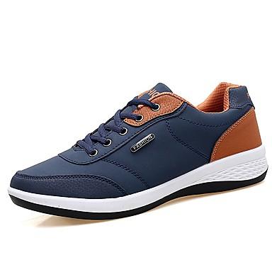 Ανδρικά Παπούτσια άνεσης PU Άνοιξη / Φθινόπωρο Καθημερινό Αθλητικά Παπούτσια Απορροφητική Μαύρο / Σκούρο μπλε / Γκρίζο