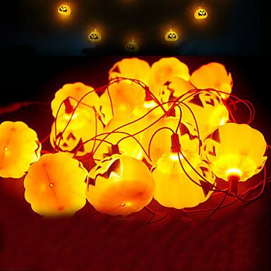 halloween led lys sett med 3 batteridrevne 9.8ft gresskar dekorasjonslamper med 16 led lys for innendørs utendørs juleferiefest 1 sett