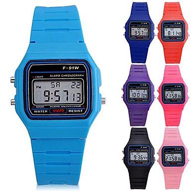 levne Pánské-Sportovní hodinky Silikon Digitální Světle modrá