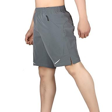 Herre Shorts til jogging Elastan sport Bukser Løp Trening Jogging Lettvekt Pustende Fort Tørring Store størrelser Ensfarget Svart Grå / Elastisk