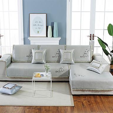 almofada do sofá Contemporâneo Gravado Seda Sintética Capas de Sofa