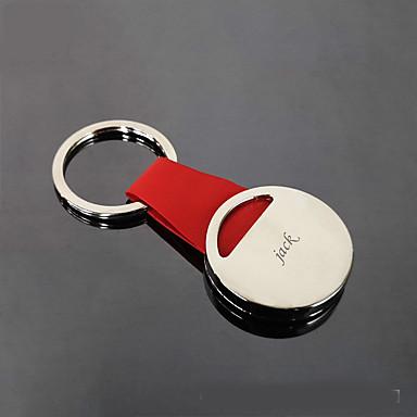 Personalizado Personalizado Chaveiro Clássico Presente Diário 1pcs Vermelho