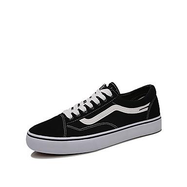 Ανδρικά Βουλκανισμένα παπούτσια Πανί Φθινόπωρο / Ανοιξη καλοκαίρι Κλασσικό Αθλητικά Παπούτσια Περπάτημα Αναπνέει Μαύρο / Μαύρο / Άσπρο / Άσπρο και Πράσινο