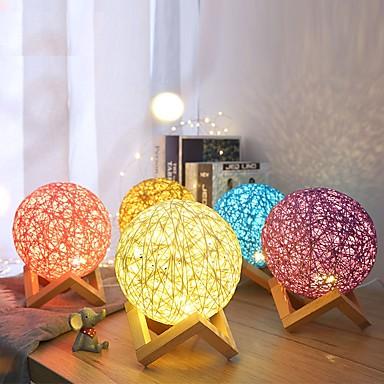 3d λαμπτήρα οδήγησε τραπέζι νυχτερινό φως πολύχρωμο cartoon luminaria παιχνίδι