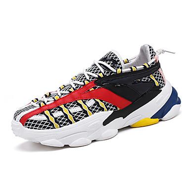 Ανδρικά Παπούτσια άνεσης Ελαστικό ύφασμα Φθινόπωρο & Χειμώνας Αθλητικό Αθλητικά Παπούτσια Αναπνέει Μαύρο / Κόκκινο / Μαύρο / Κίτρινο
