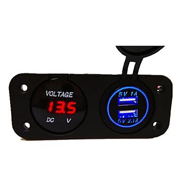 LOSSMANN Motorcykel / Bilar Billaddare 2 USB-portar för 5 V