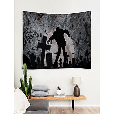 halloween eventyr tema veggdekor 100% polyester moderne / nyttårs veggkunst, veggtepper dekorasjon