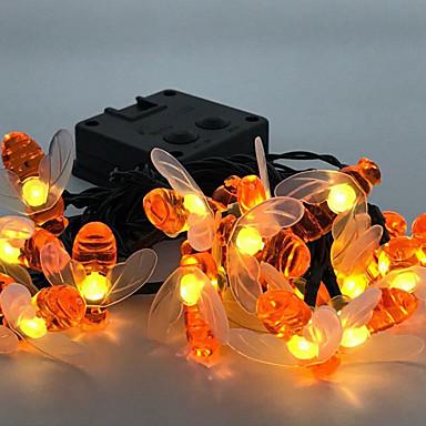 3m 20 leds honeybee streng lys varm hvit Thanksgiving halloween fest dekorative solar powered 1 sett