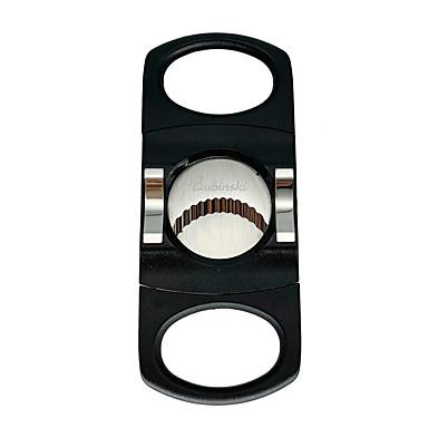 lubinski sigar cutter rustfritt stål dobbeltblad guillotin saks lommestørrelse røykkniv
