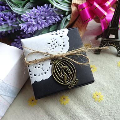 Dongguan fq1ho_bj8851 pris liten mini svart sammenleggbar papirboks firkantet retro emballasjeboks flyboks gaveeske smykkeskrin standard icraft